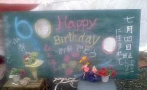 顔出し看板 『誕生日』
